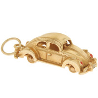 Vintage Buggy With Movable Wheels 14k Gold Charm