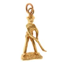 Vintage Movable Golfer 14k Gold Charm