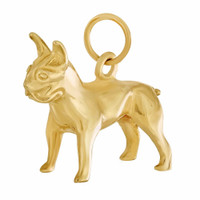 Dog - Boston Terrier 14k Gold Charm