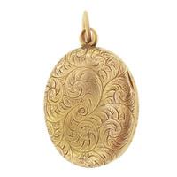 Vintage Art Nouveau Locket 14k Gold Charm