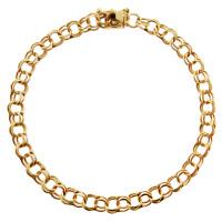 Vintage Estate Double 14k Gold Charm Bracelet