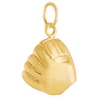 Baseball Mitt 14k Gold Charm