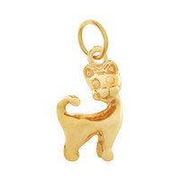 Kitty Cat 14K Gold Charm