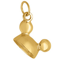 Vintage Mickey Mouse Ears 14k Gold Charm