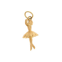 Little Ballerina 14k Gold Charm