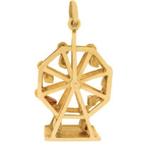 Vintage Movable Ferris Wheel 14K Gold Charm