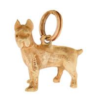 Vintage Dog - Boston Terrier 14k Gold Charm