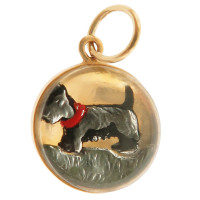 Vintage Dog - Scottie 14k Gold Charm