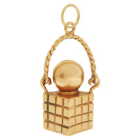 Vintage Perfume Bottle 14k Gold Charm