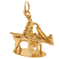 Knight in Shining Armor 14k Gold Charm