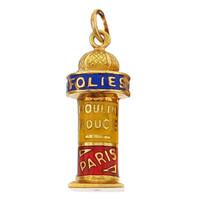 Vintage Folies Bergere 18k Gold Charm