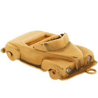 Vintage Convertible with Gem Lights 14k Gold Charm
