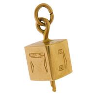 Vintage Dreidel 14k Gold Charm