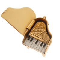 Vintage Piano with Keys 14K Gold Charm