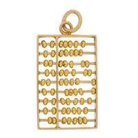 Vintage Abacus 14k Gold Charm