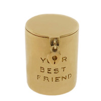 "Vintage ""Best Friend"" Money 14k Gold Charm"