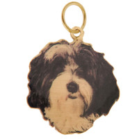 Custom Pet Photo 14k Gold Charm