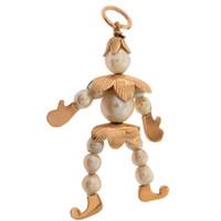 Vintage Pearl Jester 14K Gold Charm