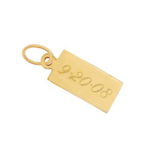 Tag 14k Gold Charm