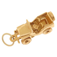 Vintage Beach Buggy 14k Gold Charm
