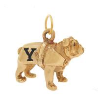 Vintage Yale Bulldog 14k Gold Charm