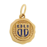 Vintage Duke University Seal 14k Gold Charm
