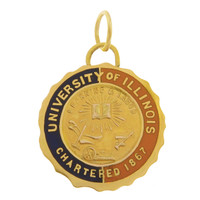 Vintage University Of Illinois 10k Gold Charm