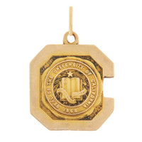 Vintage University Of California C 10k Gold Charm