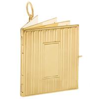 Vintage Monogramed Book 14k Gold Charm