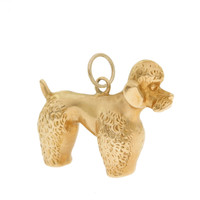 Vintage Dog - Puffy Poodle 14k Gold Charm