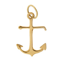 Ship Anchor 14k Gold Charm