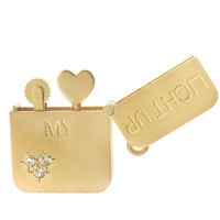 "Charmco Limited Edition: ""Light Up My Heart"" Lighter 14k Gold Charm"