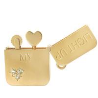 Light Up My Heart Lighter 14K Gold Charm
