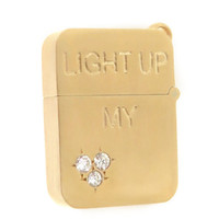 Light Up My Heart Lighter 14k Gold Charm