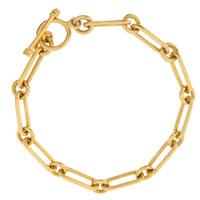 """""""Audrey"""" 14k Gold Toggle Charm Bracelet"""
