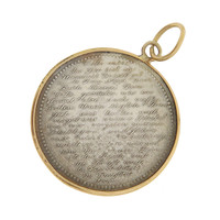 Vintage Love Coin With The Lords Prayer 14k Gold Charm