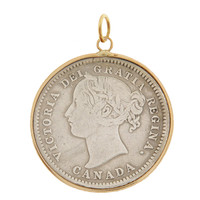 Vintage Love Coin from Canada 14k Gold Charm