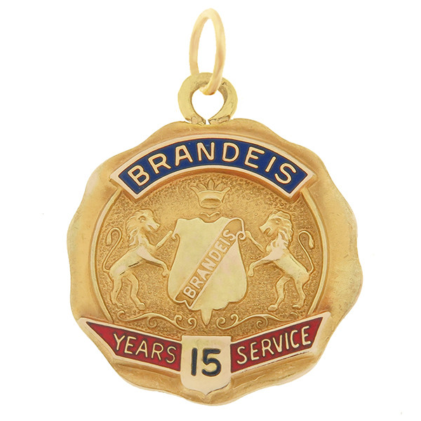 Vintage Brandeis University 14k Gold Charm