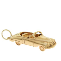 Vintage Convertible With Movable Trunk 14k Gold Charm