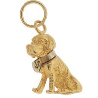 Vintage Dog - St Bernard 14k Gold Charm