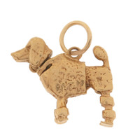 Vintage Dog - Bobble Head Poodle 14k Gold Charm