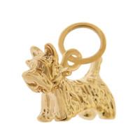 Dog - Yorkie Puppy 14k Gold Charm