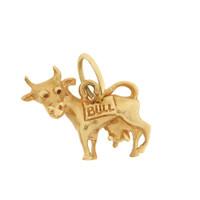 "Vintage ""No Bull"" 14k Gold Charm"
