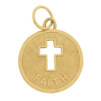 Vintage Faith  14k Gold Charm
