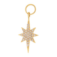 Diamond North Star 14K Gold Charm