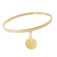 """Chloe"" 14k Gold Charm Bangle"