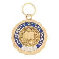 Vintage University Of Delaware 10k Gold Charm