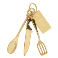 Personalized Chef Knife Set 14k Gold Charm