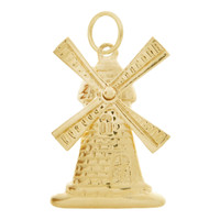 Dutch Windmill 14k Gold Charm