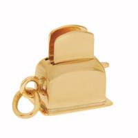 Vintage Movable Toaster 14K Gold Charm
